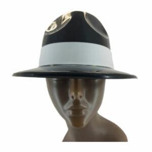 Plastic Black Michael Jackson Hat with white ribbon 1