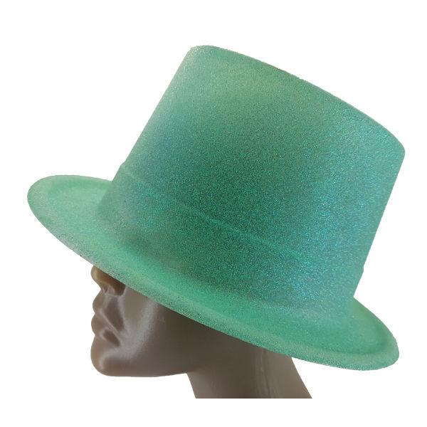 Plastic glitter Aqua Big Top hat 2 (1)