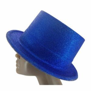 Plastic glitter Blue Big Top Hat 2
