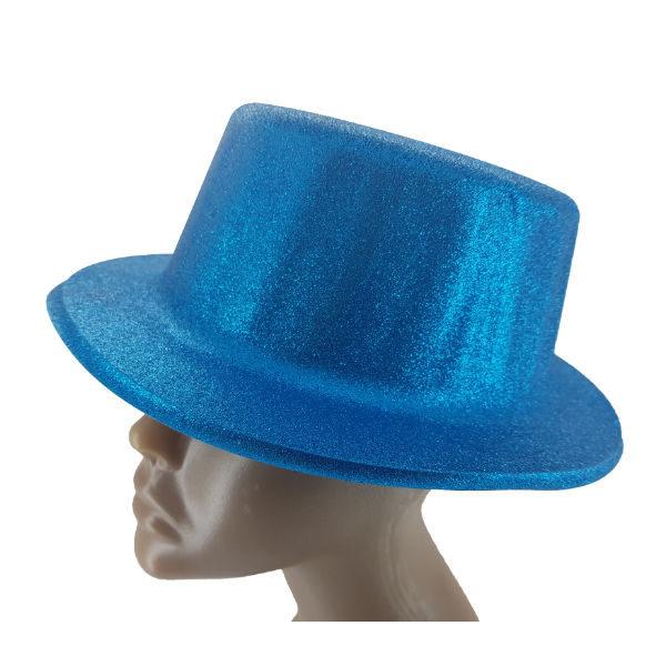 Plastic glitter Blue small Top hat 2 (1)