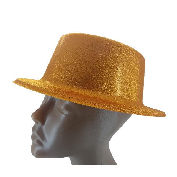 Plastic glitter Gold small Top hat 2 (1)