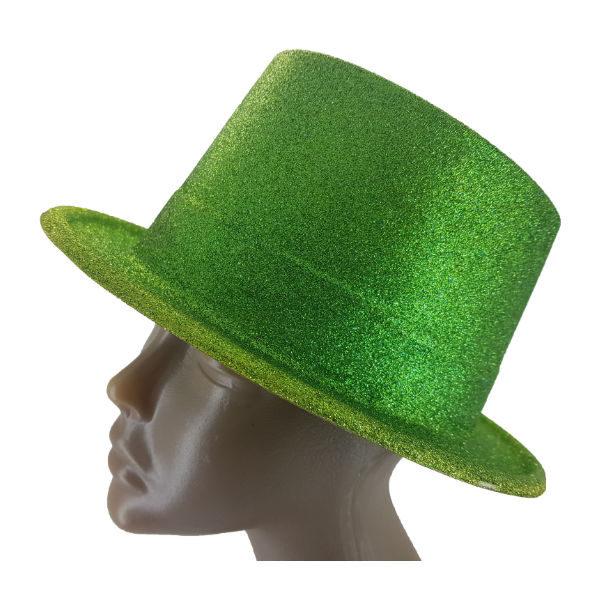 Plastic glitter Lime Big Top Hat 2 (1)