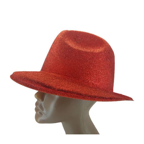 Plastic glitter Red Michael Jackson hat 2