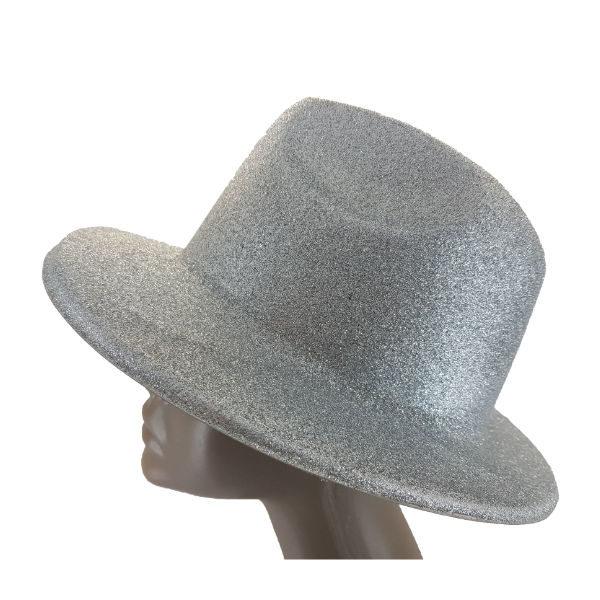 Plastic glitter silver Michael jackson hat 2 (1)