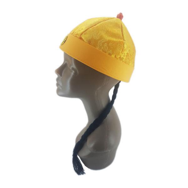 Mandarin Gold hat with braid 2