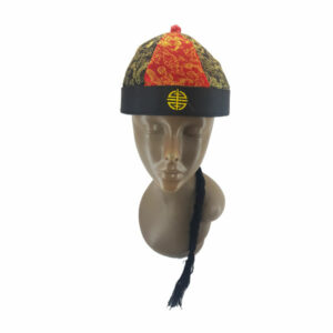 Mongolian Red&Black with Gold hat & Hair 1