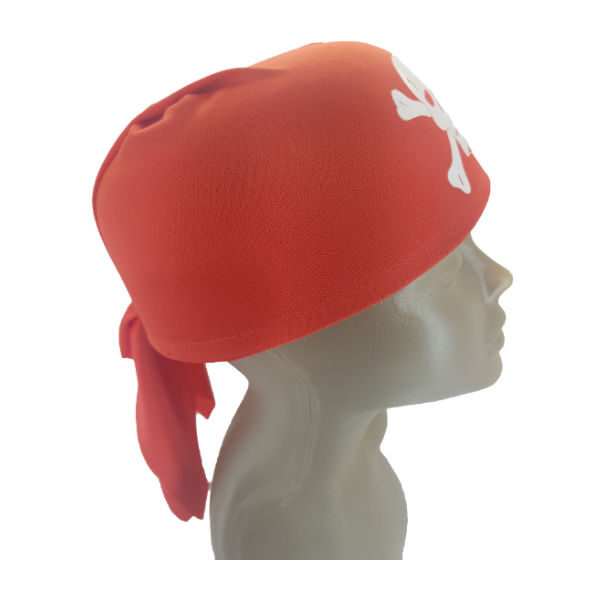 Red Pirate creew hat 2-