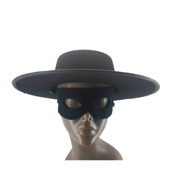 Zorro Black Felt hat and Mask 1