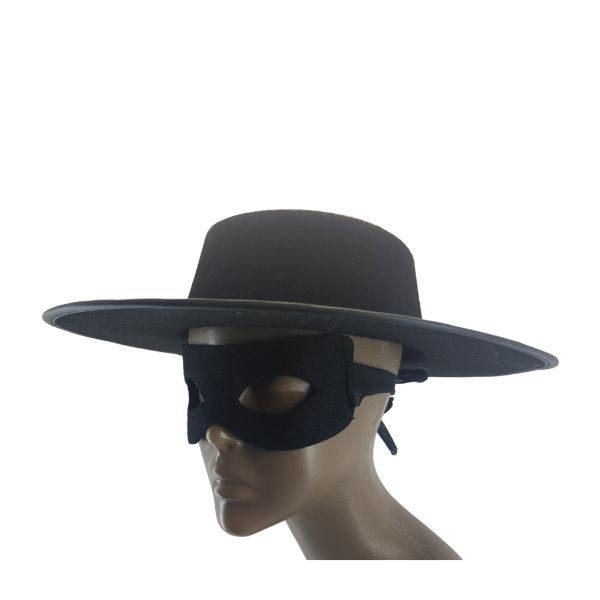 Zorro Black Felt hat and Mask