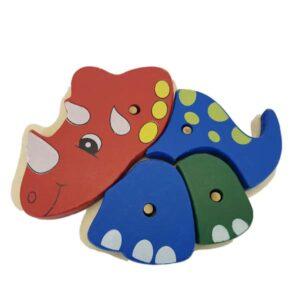 Dino knob puzzle