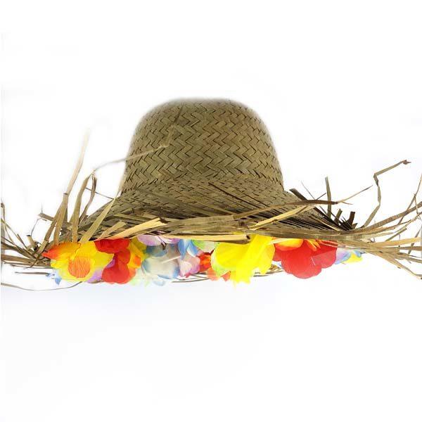 Hawaiien Luau Hat round top
