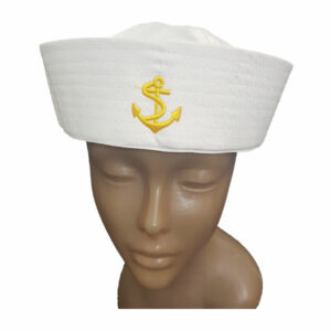 Material Sailor white hat with badge 1