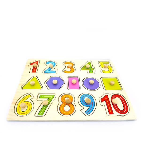 Number and shape easy grap puzzle