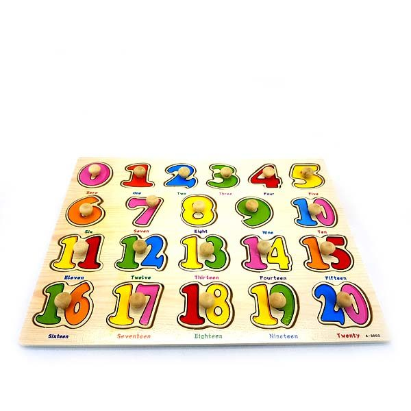 Numbers to 20 easy grip puzzle