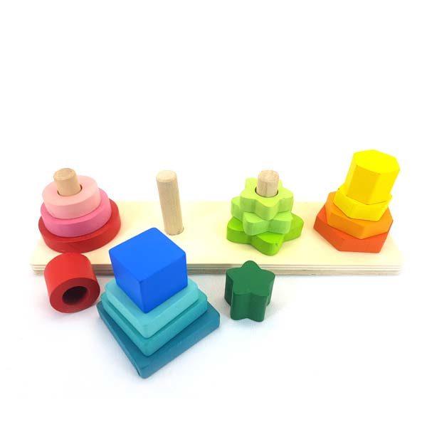 Pyramid shape stacker