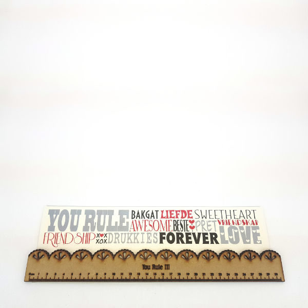 Personalized handcrafted ruler