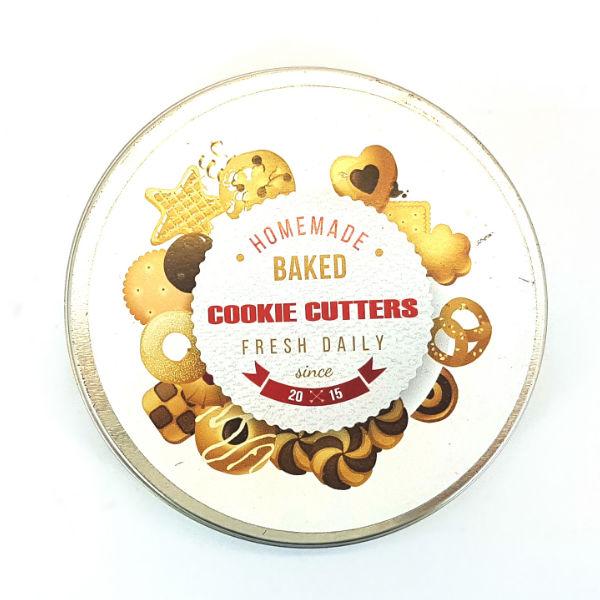 Mini cookie cutter tin set
