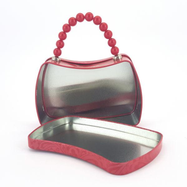 Tin & Bead handbag red