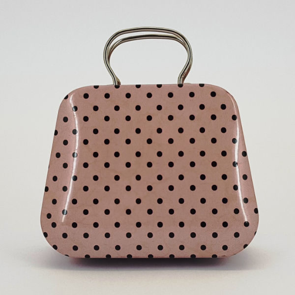 tin bucket with dots