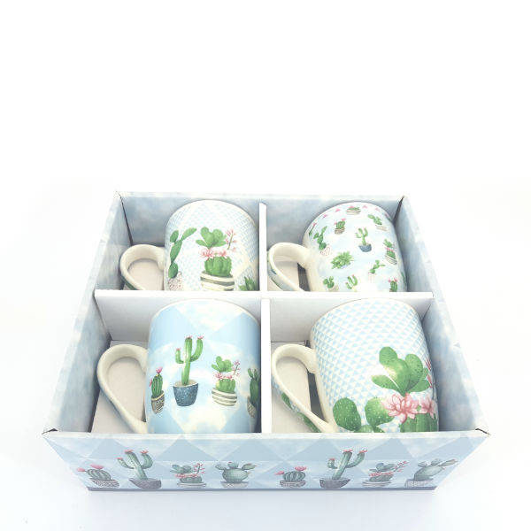 cactus mug set of 4