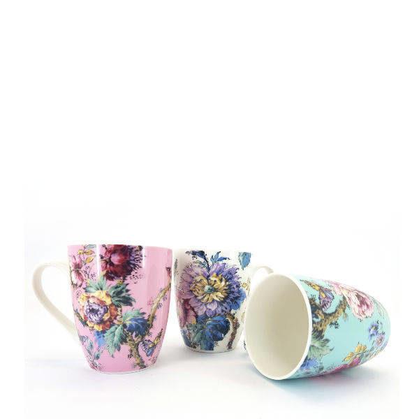 Ceramic dahlia flower designed cup