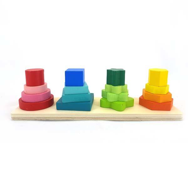 Shape pyramid stacker