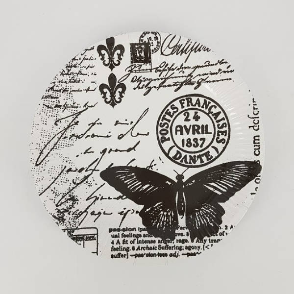 Butterfly stamp paper plate