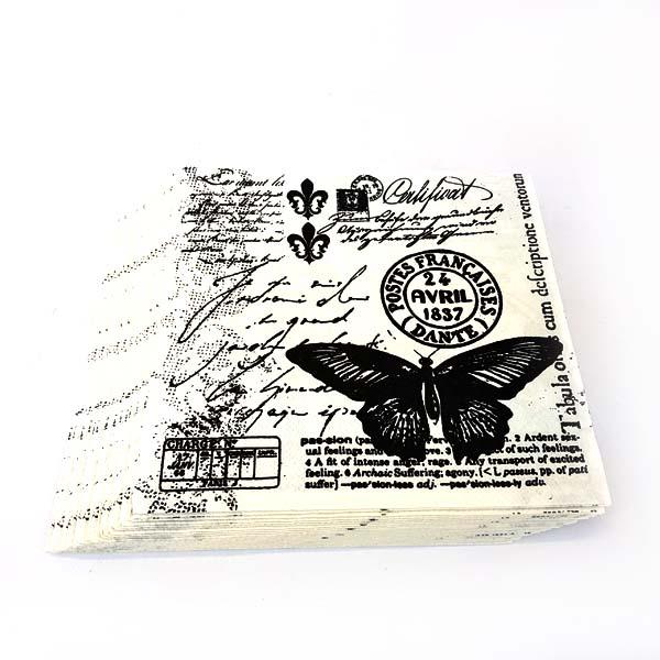 Butterfly stamp serviettes