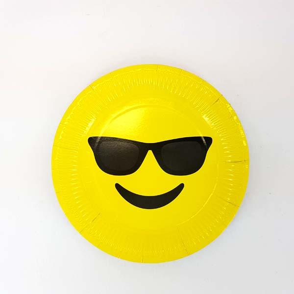 Cool Emoji Paper Plate