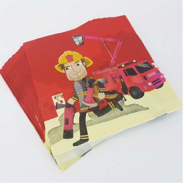 Fireman serviettes