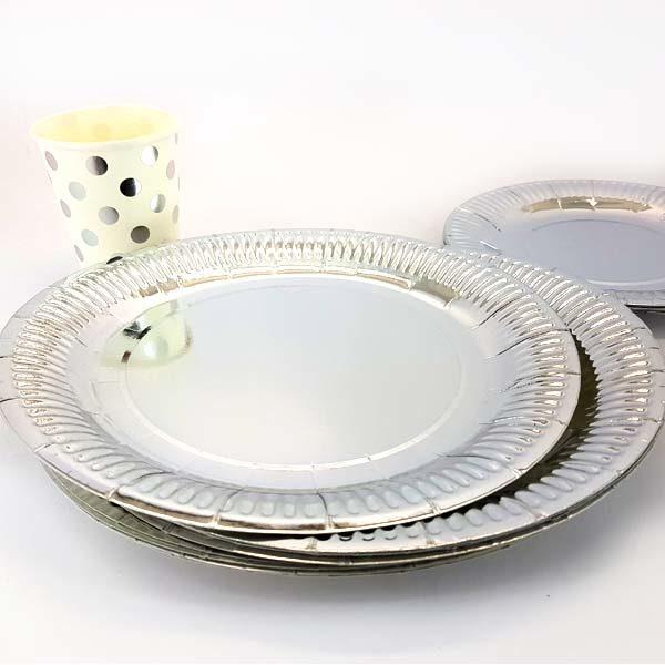 Silver big plates