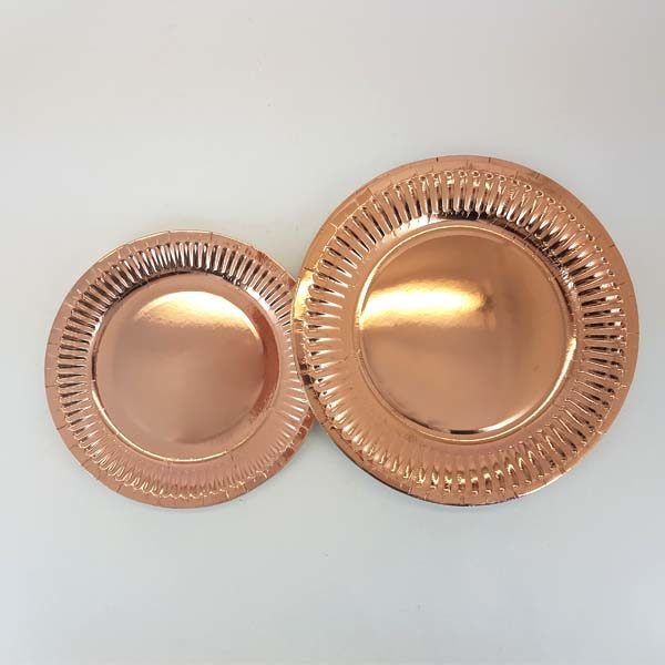 Small and big rose gold plates