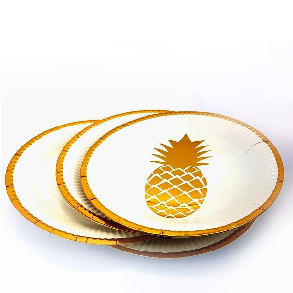 pineapple gold plate