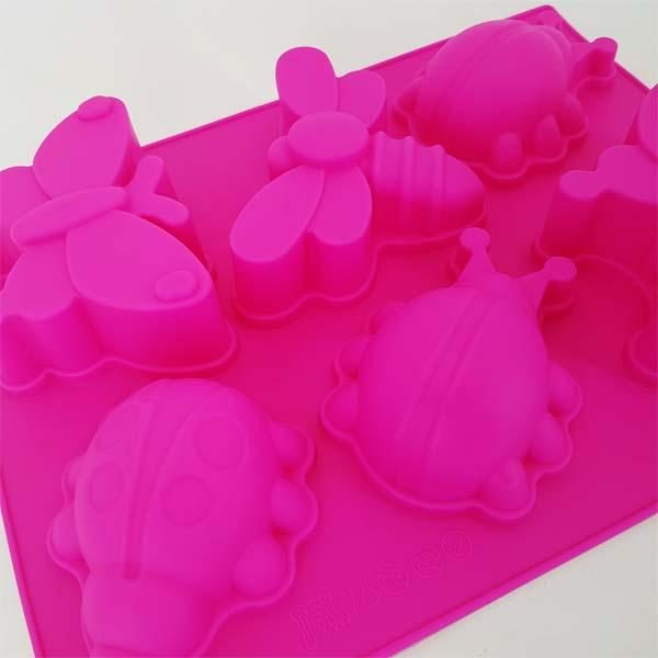 6 Assorted Insect Mold Tray