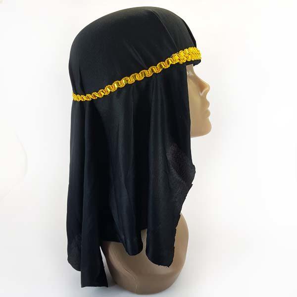 Arabian black headpiece