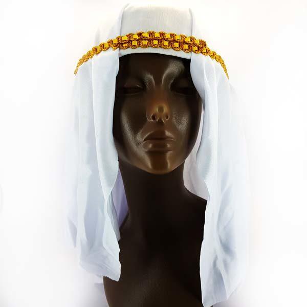 Arabian white headpiece
