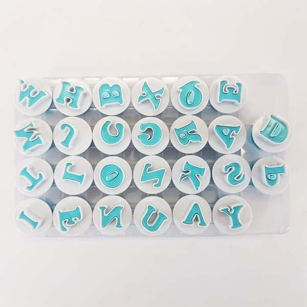 Push Easy Alphabet Upper Case Cookie Cutters