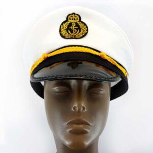Navy Sailor white captain hat.